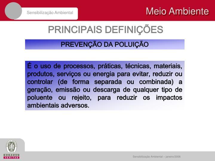 PRINCIPAIS DEFINIÇÕES