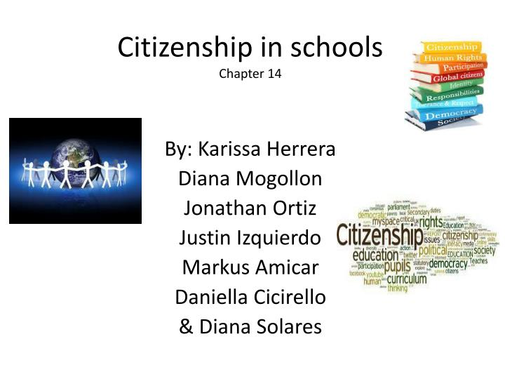 Citizenship in schools chapter 14