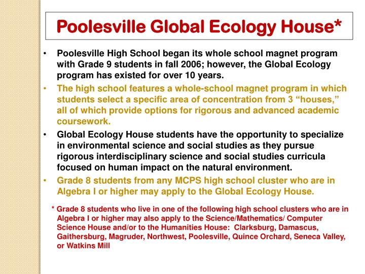 Poolesville Global Ecology House*