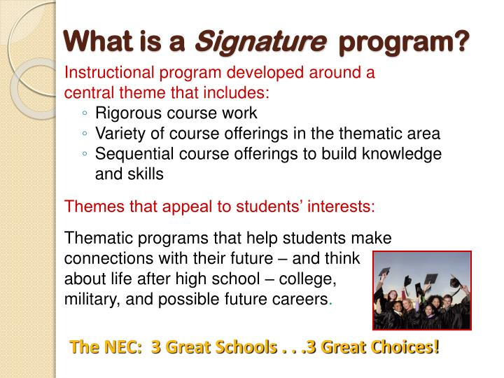 Instructional program developed around a