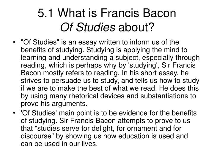 bacon by essay francis study Unlike most editing & proofreading services, we edit for everything: grammar, spelling, punctuation, idea flow, sentence structure, & more get started now.