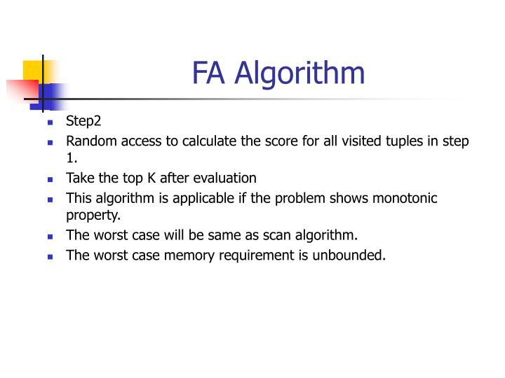 FA Algorithm