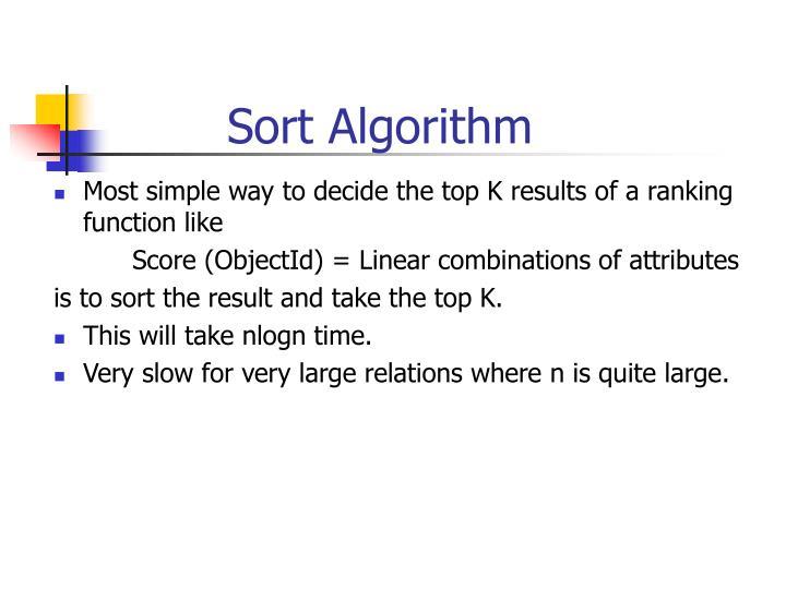 Sort Algorithm