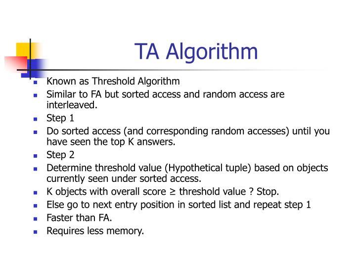 TA Algorithm