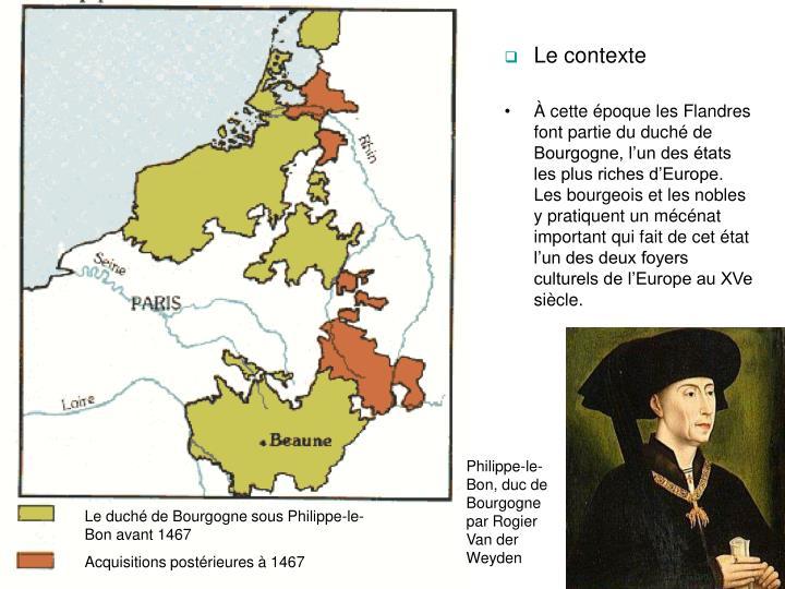 Le duch de Bourgogne sous Philippe-le-Bon avant 1467