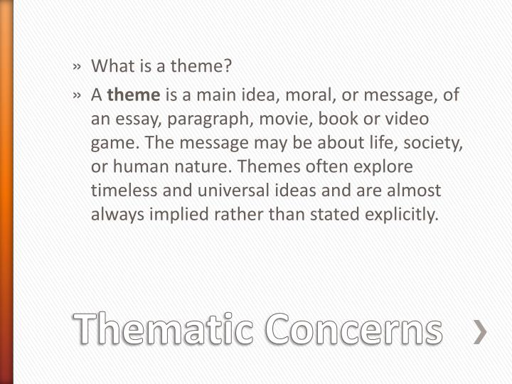 deadly unna themes essay Essay soundtrack analysis of the dark knight rises - i firmly believe in the unified field theory that means electromagneticism encompasses all gravity is a form of electromagnetism that has a resonance factor that can be overcome by phasing against that energy.