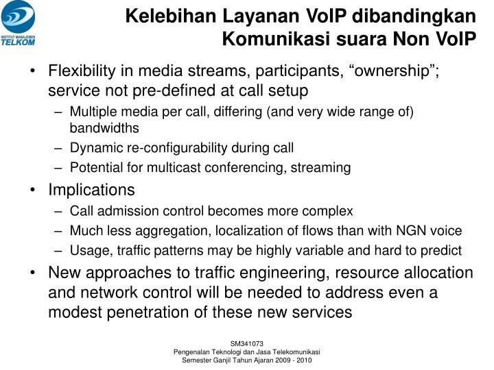 Kelebihan Layanan VoIP dibandingkan Komunikasi suara Non VoIP