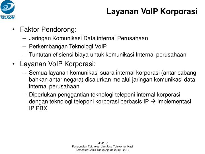 Layanan VoIP Korporasi