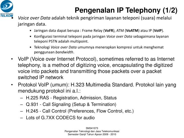 Pengenalan IP Telephony (1/2)