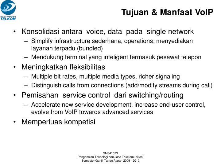 Tujuan & Manfaat VoIP