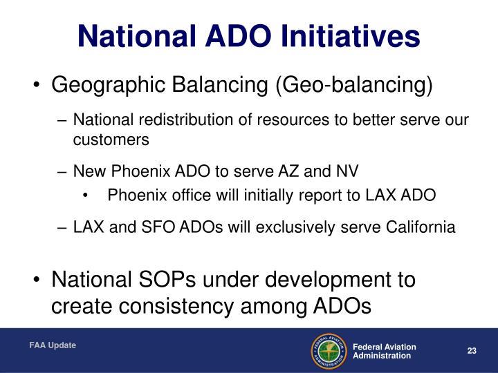 National ADO Initiatives