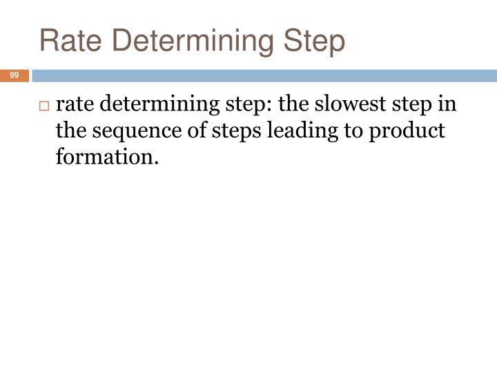 Rate Determining Step