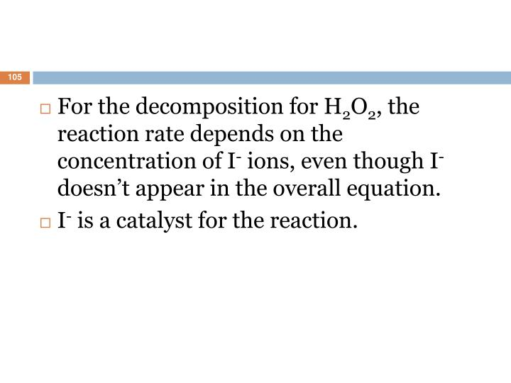 For the decomposition for H