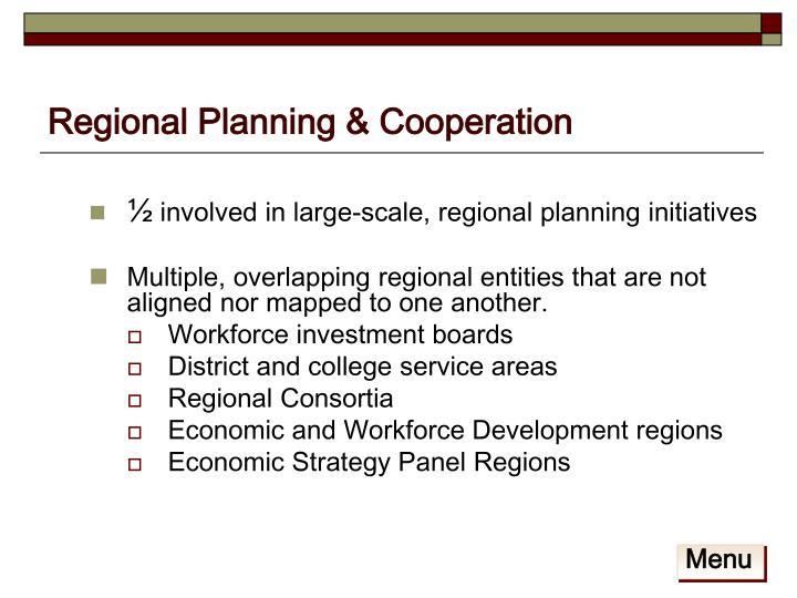 Regional Planning & Cooperation