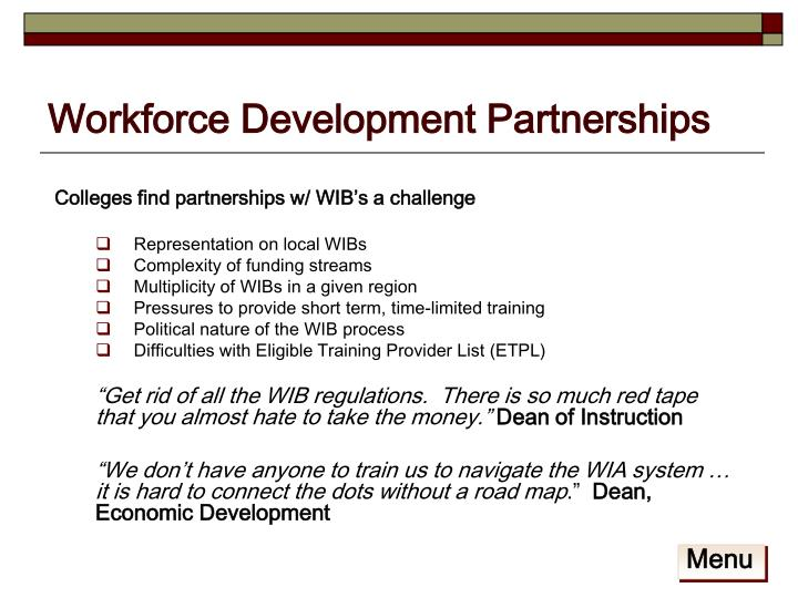 Workforce Development Partnerships