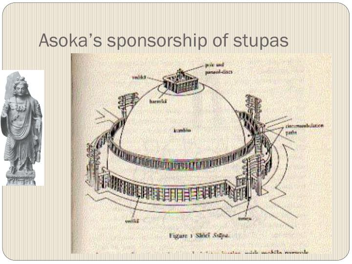 Asoka's sponsorship of stupas