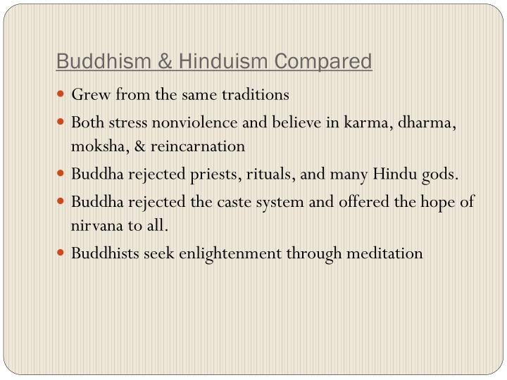 Buddhism & Hinduism Compared