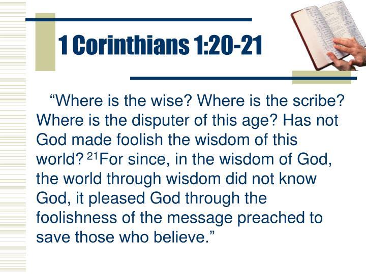 1 Corinthians 1:20-21