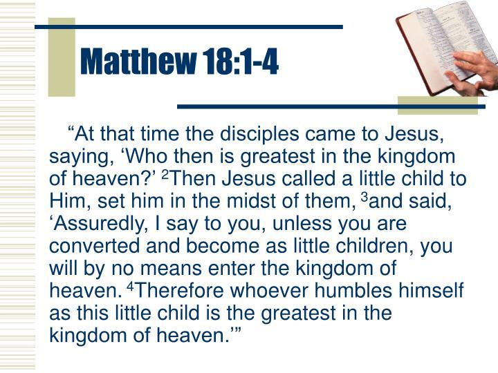 Matthew 18:1-4