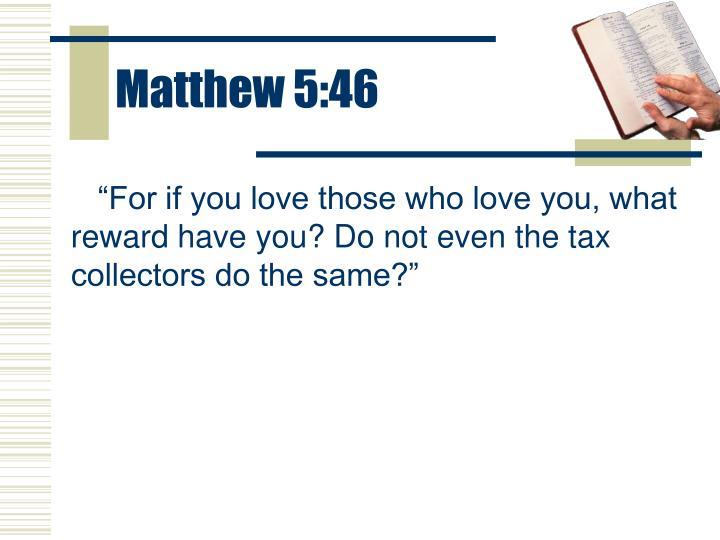 Matthew 5:46