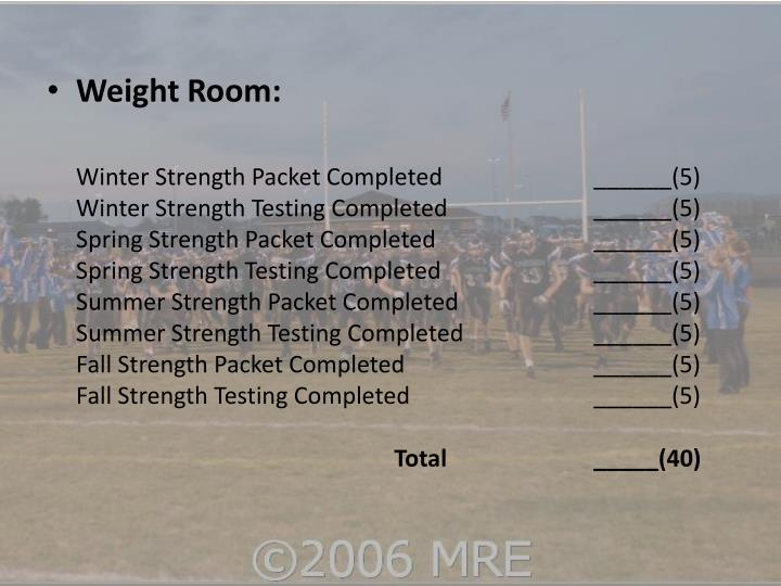 Weight Room: