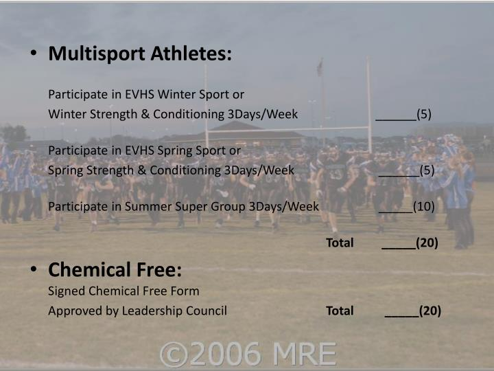 Multisport Athletes: