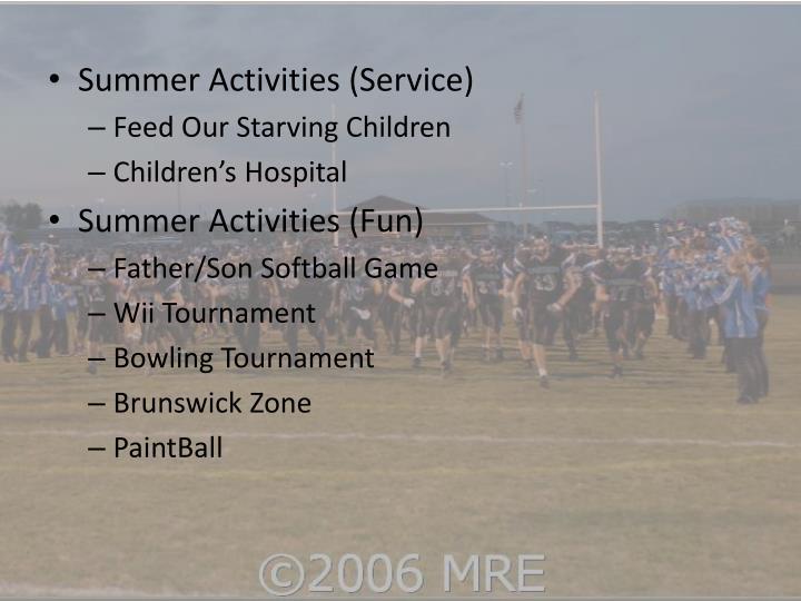 Summer Activities (Service)