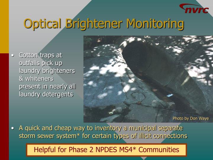 Optical Brightener Monitoring