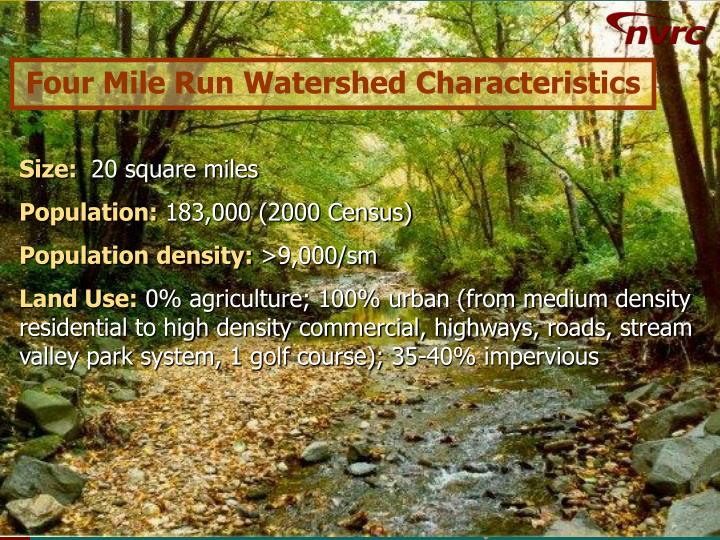 Four Mile Run Watershed Characteristics