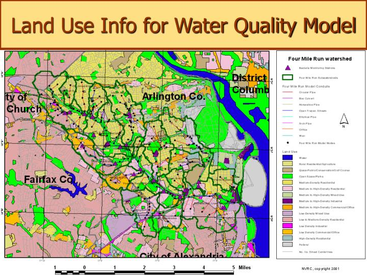 Land Use Info for Water Quality Model
