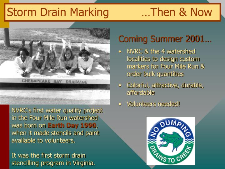 Storm Drain Marking…Then & Now
