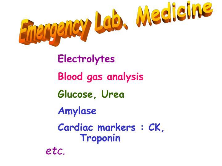 Emergency Lab. Medicine