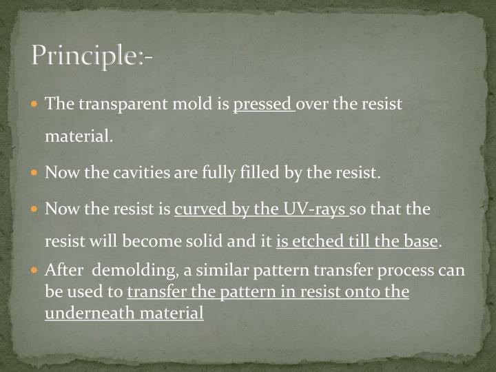 Principle:-