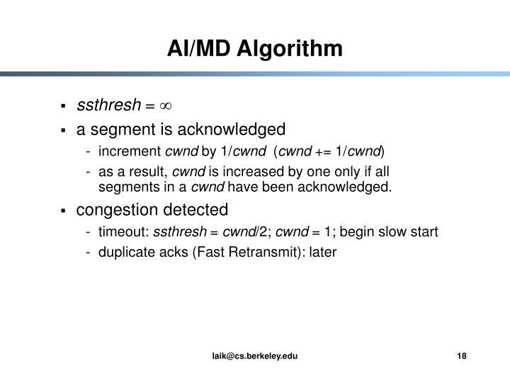 AI/MD Algorithm