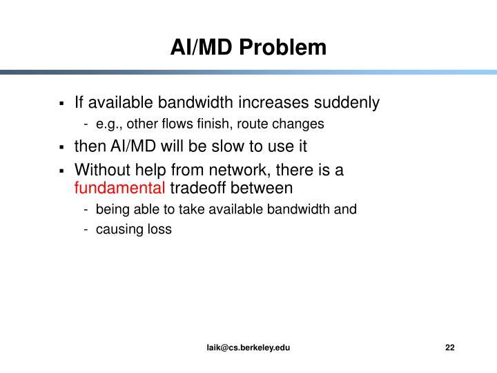 AI/MD Problem