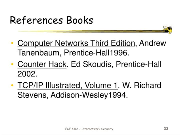 References Books