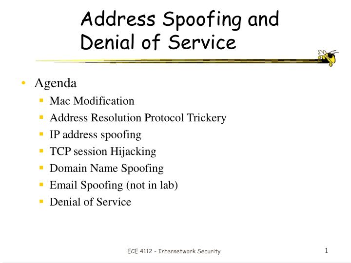 Address Spoofing and