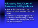 addressing root causes of environmental degradation