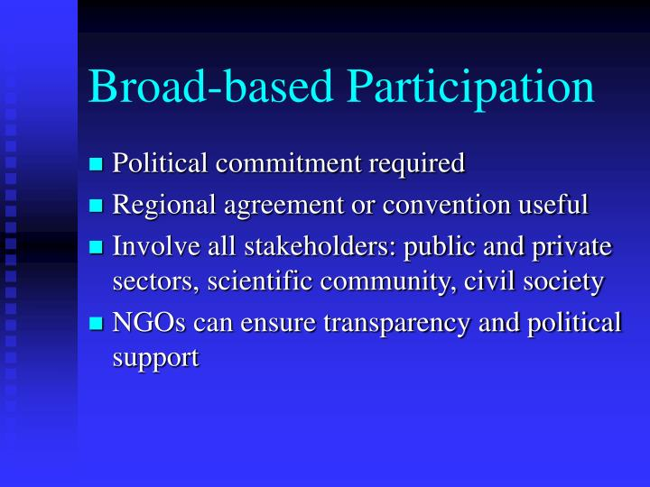 Broad-based Participation