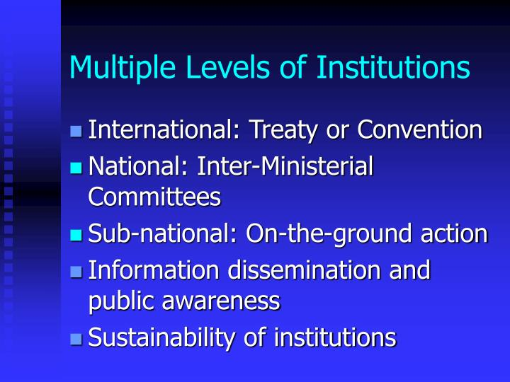 Multiple Levels of Institutions