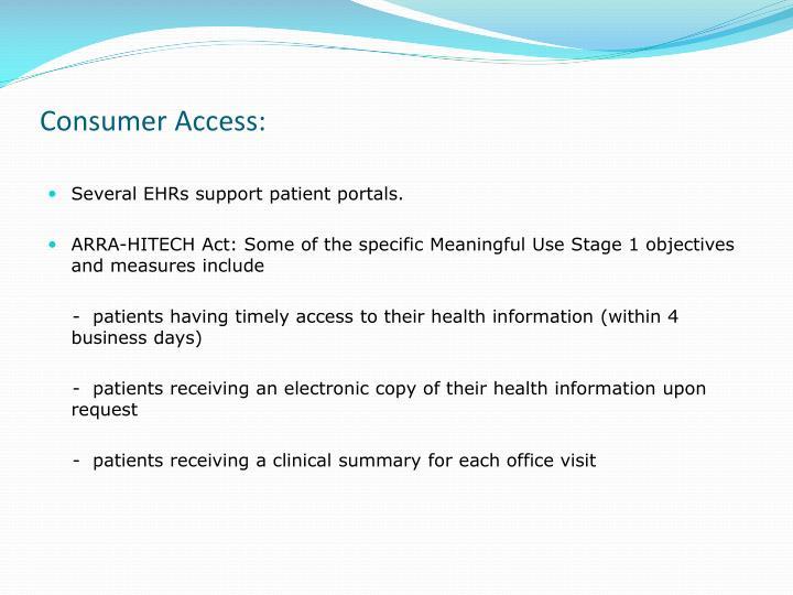 Consumer Access: