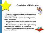 qualities of folktales