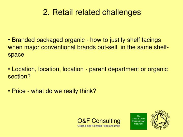 2. Retail related challenges