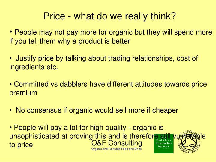 Price - what do we really think?