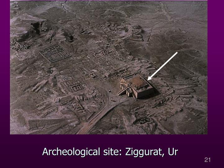 Archeological site: Ziggurat, Ur