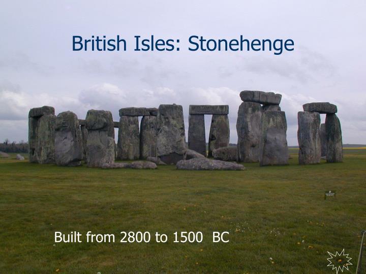 British Isles: Stonehenge