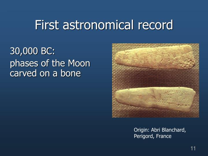 First astronomical record