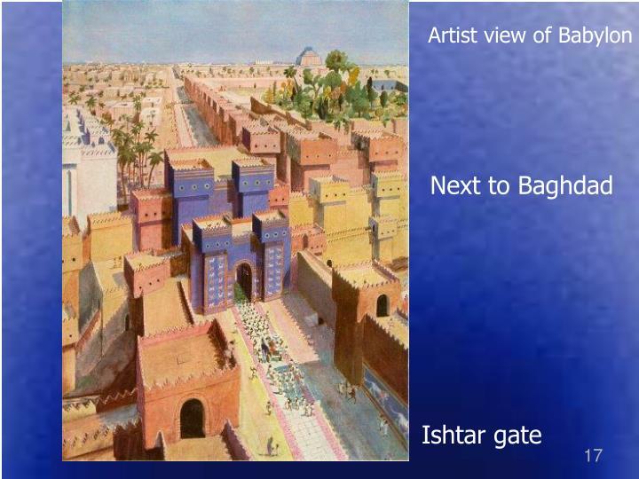 Artist view of Babylon