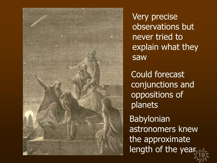 Very precise observations but never tried to explain what they saw