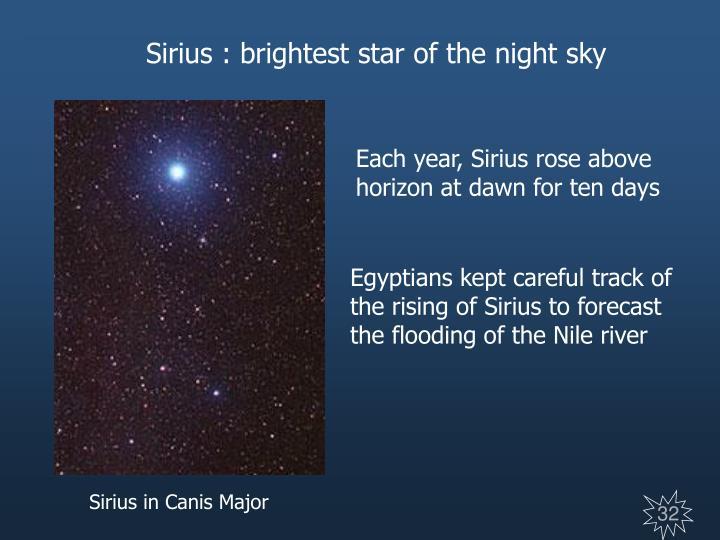 Sirius : brightest star of the night sky